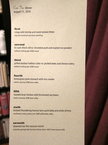 Can Tho Dinner Menu