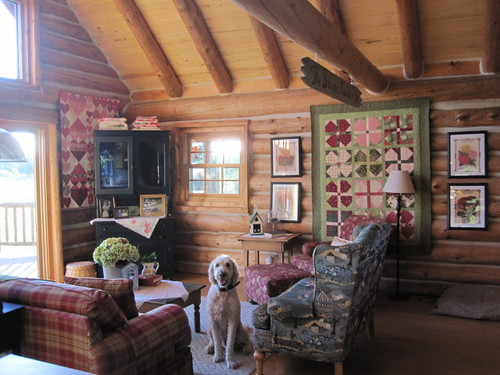 Cottage Log Home Living Room