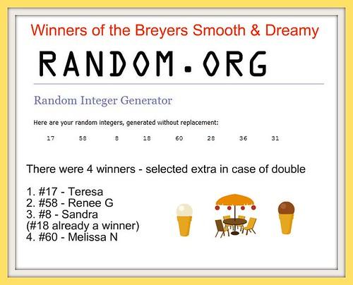 Breyers Winners