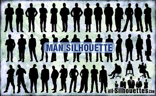 Click en la imagen para descarga 41 Siluetas en formato vector - Hombres