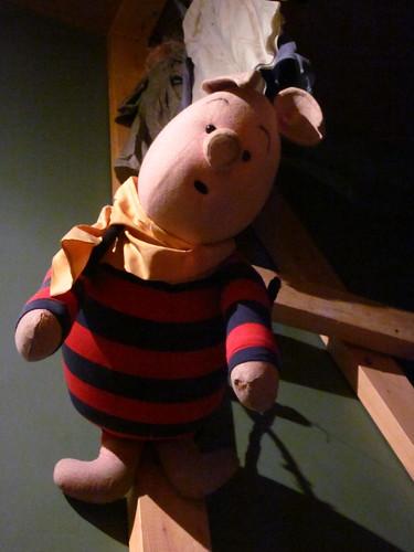 Piglet puppet.
