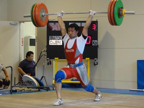 《2010東海国体》 斎藤和則選手(愛知県・TTDC)のジャーク第3試技