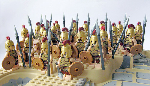 Soldiers lego minifig spartans