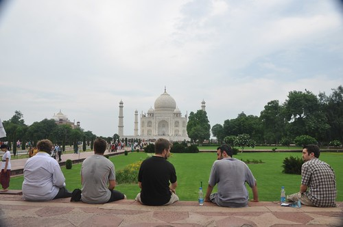 Us at the Taj Mahal