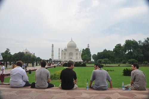Us at the Taj Mahal