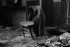 a hard days work (Desolate Places) Tags: abandoned chair power room jacket coal breaker coalcountry