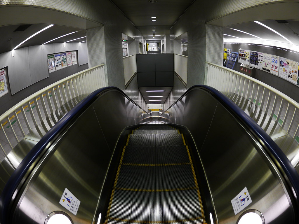 A escalator in subway station