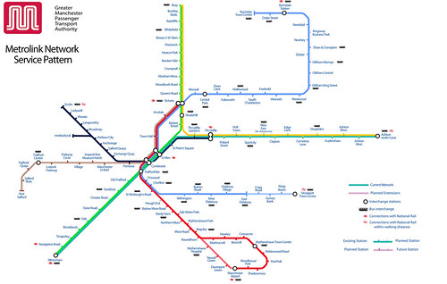 Manchester Metrolink tram map