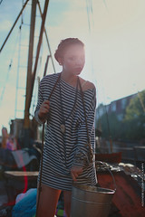 Girl Sailor (Alexander Kuzmin) Tags: sea portrait fashion scarf french boat marine couple ship outdoor availablelight ambientlight stripes navy tie naturallight overlay rope story sling anchor sail series vest sailor shadowplay choker necktie  openair mariner rainman doubleportrait alexanderkuzmin kuzmin difital canon5dmarkii rainbook