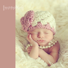 .pearls and a pout. (*miss*leah*) Tags: baby flower hat nikon crochet dressup jewelry pearls newborn jewels crochethat newbornphotographer newbornphotography nikond700 kelleyryden tracyraver leahhoskins