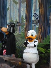 Last Tour to Endor: Disney Characters in Costume (partyhare) Tags: goofy fan starwars disney event disneyworld stormtrooper characters wdw darthvader waltdisneyworld dhs donaldduck startours endor bikerscout celebrationv disneyshollywoodstudios lasttourtoendor
