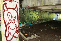 little devil (yorkshirepuddin) Tags: abandoned graffiti scotland empty ape devil graff shite daze abandonedbuilding cardross seck scottishgraffiti abondonment