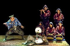 Power Ogre And The Lazy Racoon 1 (JRaptor) Tags: festival japan dance nikon mask silk noh 日本 saitama kawagoe performer hdr 川越 埼玉県 能 お面 saitamaprefecture 仮面 d700