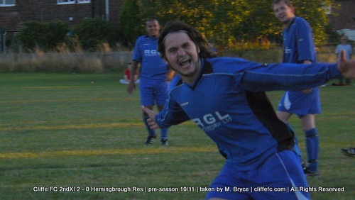 Cliffe FC 2ndXI 2 - 0 Hemingbrough United Reserves (pre-season) 18Aug10