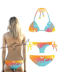 Sunset Splash by KellyS (Official Roxy Photos) Tags: design bikini present roxy quattro schick a