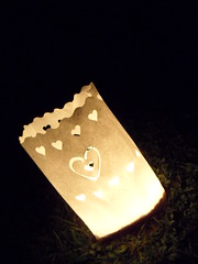 Candle paper love
