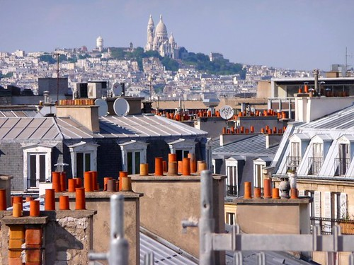 Over the rooftops of Paris with Sacre Coeur