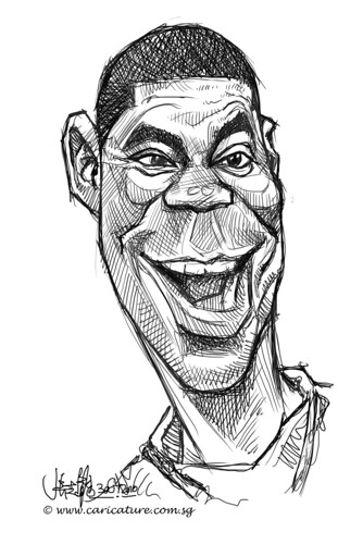 digital sketch studies of Tracy Morgan - 3