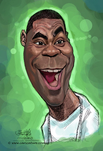 digital caricature of Tracy Morgan - 2 small