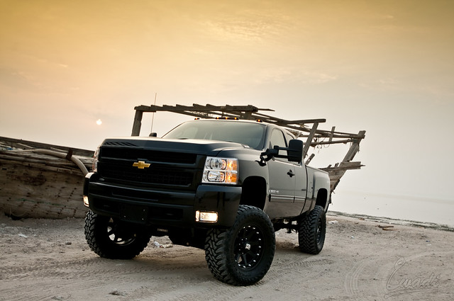 black chevrolet monster nikon lift suspension kit kuwait silverado doha fabtech liftkit awadi 1024mm d300s iawadi