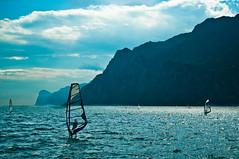 Riva del Garda windsurfers