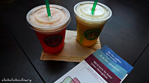 Stabucks Lemon Hibiscus and Lemon Green Tea Blended Juice Drink
