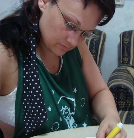 Fazendo asplaquinhas dos girassóis