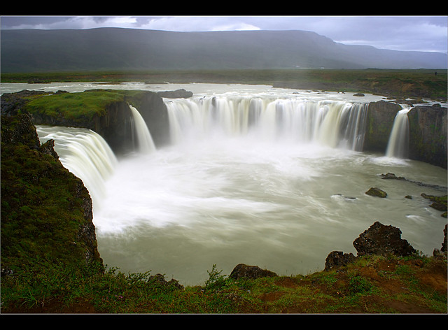 Goðafoss in the Rain