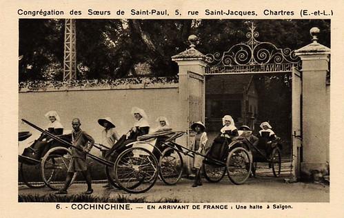 COCHINCHINE - Saïgon - En Arrivant de France, une halte à SaÏgon - Soeurs de St Paul de Chartres