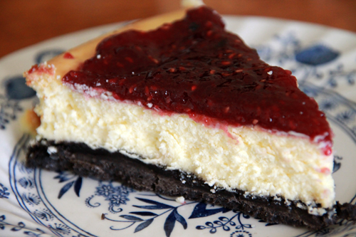 Jam Topped Cheesecake