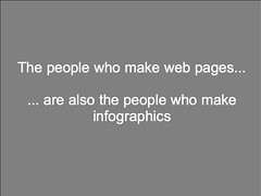The people who make web pages... are also the people who make infographics