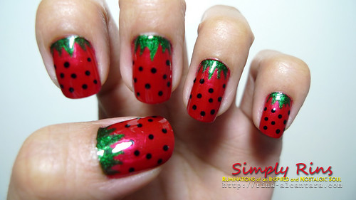 Nail Art Strawberries 03
