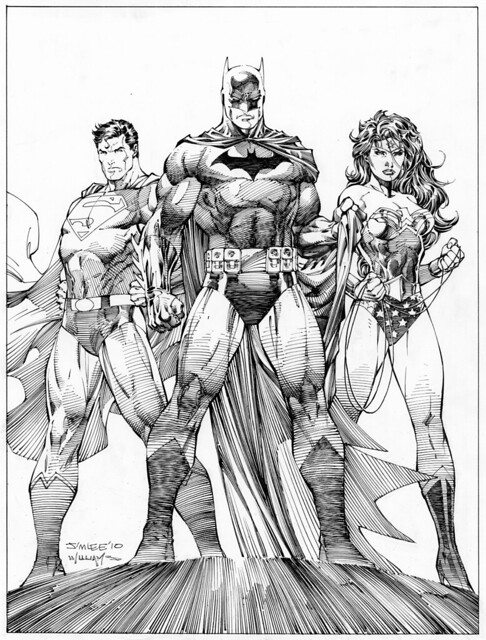 Jim Lee Scott Williams unused Icons cover