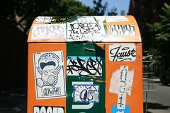 Sticker box (carnagenyc) Tags: nyc newyork graffiti sticker chew sure faust arlos overconsume surer ocnsme