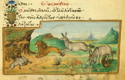 Gallus, Asinus et Leo