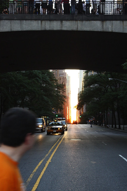 Manhattanhenge, by MacDara on Flickr.