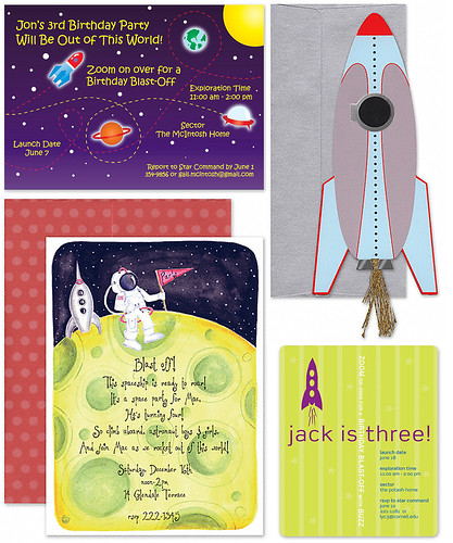 Space Themed Invitations