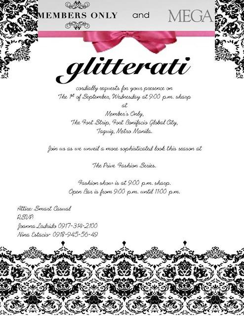 Glitterati Invite