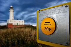 Insert Coin (ricdiggle) Tags: morning blue light lighthouse white storm yellow architecture clouds zeiss t coin nikon head telescope carl 228 20p insert distagon flamborough zf distagont228