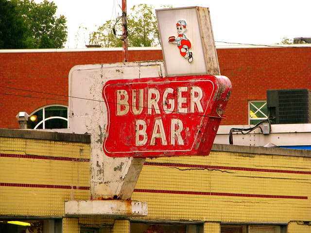 Burger Bar sign - Bristol, VA