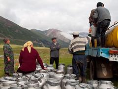 Milk transfer (Evgeni Zotov) Tags: people woman mountain man car fog work milk asia shepherd can pasture delivery kyrgyz transfer zil kyrgyzstan kirghizistan kirgistan talas kirgizia jailoo kirgizistan kirgizi kirgisistan   kirguistan kirghizia krgzistan quirguisto          beshtash