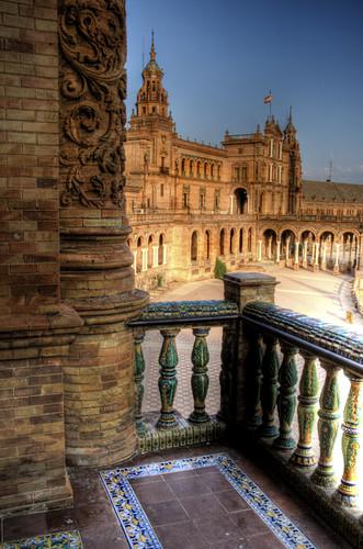 Seville. Plaza de España view. Sevilla.