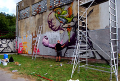 in progress (mrzero) Tags: festival wall graffiti character style crew slovakia cans jam kosice cfs mrzero ironlak sior coloredeffects bki streetartcommunication