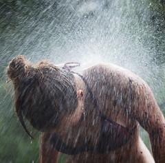 Water splash (Timo Vehvilinen) Tags: water girl suomi finland dof bokeh scout bikini splash vesi evo scouting leiri canonef70200mmf4l partio kilke finnjamboree