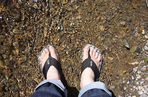 Feet in the Red River