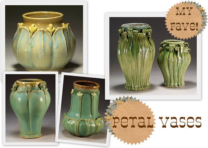 petal vases flat