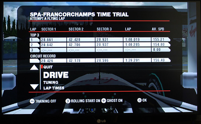 1.39.201 around SpaFrancorchamps on F1 2009 (Wii)