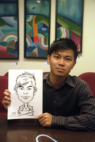 Caricature live sketching @ UOB Finance Division - 1a