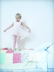 (CharlyLPhotography) Tags: portrait ballet girl wall kid bed child dress curls tights blanket blondehair leotard childportrait girlportrait palecolors