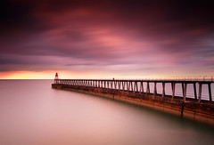 Whitby Harbour at sunset (Semi-detached) Tags: sea landscape evening pier seaside nikon long exposure yorkshire north sigma whitby 1020 semidetached d300 nd1000 nd110